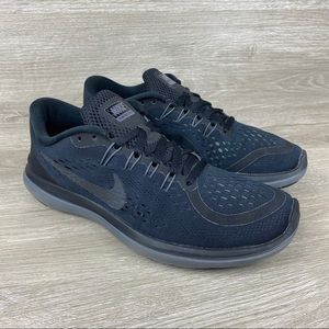 Nike Flex 2017 RN Women's Black Running Shoes 8.5